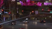 casino chips : Street traffic on Las Vegas Boulevard - the strip at night - USA 2017