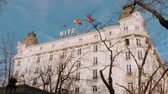 alcalde : Famoso Hotel Ritz en Madrid Archivo de Video