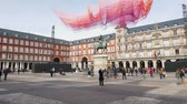 цари : Popular tourist attraction in Madrid - the Plaza Mayor in the city center