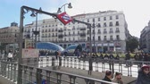 architectural : Famous Square in Madrid city center - the Puerta del Sol Square