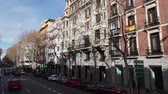 architectural : Driving through the streets of Madrid on a sunny day Stock Footage