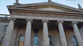 street photography : Impressive Post Office building at O Connell Street in Dublin
