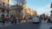 river liffey : Impressive street view - The O Connell Street in Dublin
