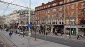 street photography : O Connell Street in Dublin - famous boulevard in the city center