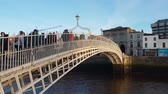 river liffey : The Ha Penny Bridge or Half Penny Bridge in Dublin