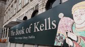 ireland : Famous Book of Kells at Trinity College in Dublin