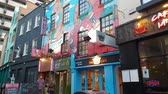 river liffey : Temple Bar district in Dublin - an awesome place Stock Footage