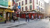 ireland : Popular and famous Temple Bar district in Dublin