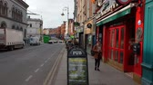 river liffey : Pubs in the city center of Dublin