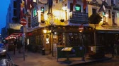 river liffey : Traditional Irish pubs at Temple Bar district in Dublin