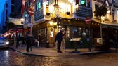 river liffey : Temple Bar district Dublin by night - a popular hotspot