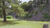 dramatic : Remains of Edo Castle at Imperial Castle Garden in Tokyo