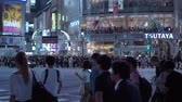 japon kültürü : Shibuya - a busy and popular district in Tokyo - TOKYO  JAPAN - JUNE 12, 2018 Stok Video
