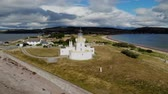 britânico : Cromarty Lighthouse at Cromarty Firth in the Scotland - aerial view