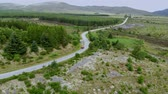 vysočina : Lonesome street through the Scottish Highlands - aerial view