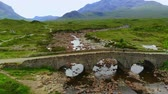 nagy britannia : Flight over famous Sligachan Bridge on the Isle of Skye