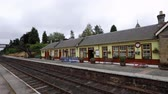 spojené království : Small train station in the Highlands of Scotland for the Speyside Stream train Dostupné videozáznamy