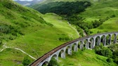 escócia : Glenfinnan viaduct in the highlands of Scotland