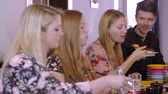 soja : Young people eat Sushi at a Asian restaurant