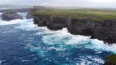 kerry : Amazing flight along the cliffs of Ireland at the west coast Stock Footage