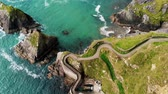 megye : Ireland from above – Dunquin Pier on Dingle Peninsula Stock mozgókép