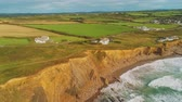 kenar : Aerial view over the coastline in Cornwall