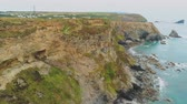 エッジ : The amazing Coast of Cornwall England with its rocky cliffs