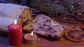 rozinky : The traditional Christmas cake from Germany the famous stollen