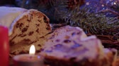 украшение : Baked Stollen a German specialty for Christmas