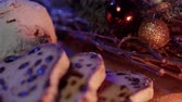 anijs : Christmas stollen the famous Christmas cake for holidays Stockvideo
