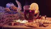 rozinky : Mulled wine on a Christmas table