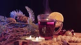 advento : Mulled wine on a Christmas table