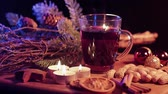 mulled : Hot and spiced red wine punch for Christmas