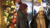 urbane : Two girls do Christmas Shopping in New York