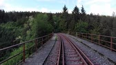 longe : Flight over abandonned railway tracks