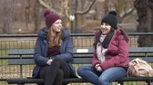 puente de manhattan : Young women enjoy their relaxing time at Central Park New York
