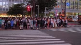 cityscape japan : Hundreds of people crossing the street in Tokyo Shibuya - TOKYO, JAPAN - JUNE 12, 2018
