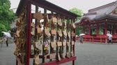 japon kültürü : Shinto Shrine in Kamakura - the famous Tsurugaoka Hachiman-gu shrine - KAMAKURA, JAPAN - JUNE 18, 2018