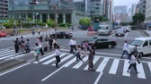 입구 : People crossing the streets in Tokyo - TOKYO, JAPAN - JUNE 12, 2018