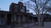 マーシャル : Historic wooden buildings at at Pioneertown in California in the evening - CALIFORNIA, USA - MARCH 18, 2019