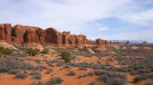 декорации : Arches National Park in Utah - famous landmark