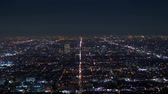 hollywood sign : Los Angeles by night - aerial view from the Hollywood Hills