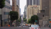 Street view in Downtown Los Angeles - CALIFORNIA, USA - MARCH 18, 2019