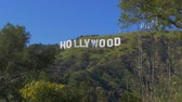 Hollywood sign in the hills of Hollywood - CALIFORNIA, USA - MARCH 18, 2019
