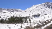 california drought : Sierra Nevada with it snowy mountains on a winters day Stock Footage