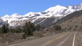 california drought : Scenic road through the mountains of Sierra Nevada Stock Footage