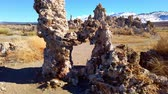 bizarro : Tufa towers columns of limestone at Mono Lake in California - travel photography