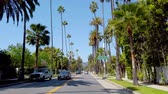 görme : Driving through Beverly Hills California - LOS ANGELES, USA - APRIL 1, 2019