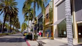 ロサンゼルス市 : Exclusive stores at Rodeo Drive in Beverly Hills - LOS ANGELES, USA - APRIL 1, 2019 動画素材