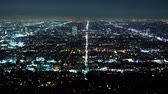 iluminado pelo sol : Aerial view over Los Angeles by night